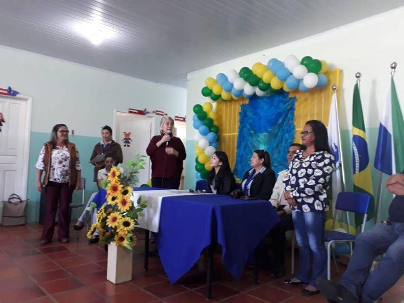 Inaugur. E.M Euclides B. de Oliveira, Santana de Itararé, PR