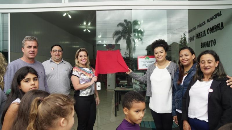 Prazer de Ler 2019 - Inauguração Biblioteca Pública Municipal Maria Correa Bonato, Vargem, SC