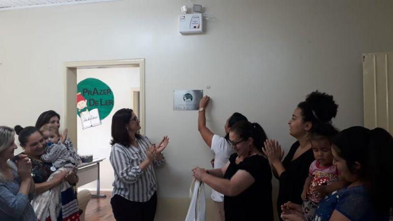 Prazer de Ler 2019 - Inauguração Escola de Ensino Fundamental Laudelino de Souza Medeiros, São José do Cerrito, SC