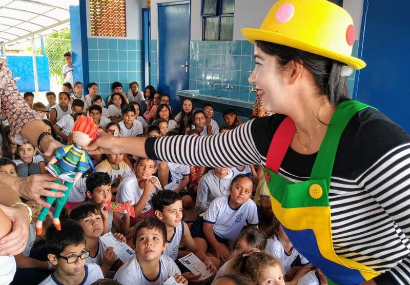 Prazer de Ler 2019 - Inauguração Escola Municipal Olívio Girotto